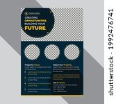 corporate flyer elegant design...   Shutterstock .eps vector #1992476741
