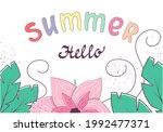hello summer banner template...   Shutterstock .eps vector #1992477371