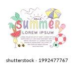 hello summer banner template...   Shutterstock .eps vector #1992477767