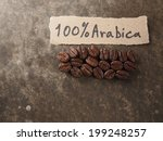 coffee crop beans with text... | Shutterstock . vector #199248257