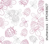 seamless pattern with clover ...   Shutterstock .eps vector #1992483827
