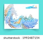 multi color mosaic background....   Shutterstock .eps vector #1992487154