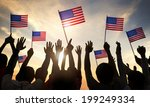 silhouettes of people holding... | Shutterstock . vector #199249334