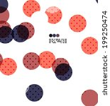 bright red and blue textured... | Shutterstock . vector #199250474