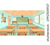 elements class room interior... | Shutterstock .eps vector #1992505937