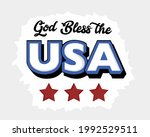 god bless the usa writing with...   Shutterstock .eps vector #1992529511