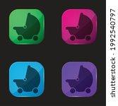 baby black stroller transport... | Shutterstock .eps vector #1992540797