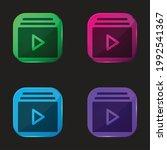 album four color glass button...