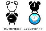 set of alarm clock symbol with... | Shutterstock .eps vector #1992548444