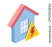 home electricity lightning sign....   Shutterstock .eps vector #1992555854