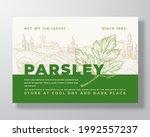 parsley label template.... | Shutterstock .eps vector #1992557237