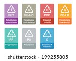 medical concept with abstract... | Shutterstock .eps vector #199255805
