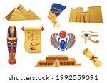 golden symbols of ancient egypt ... | Shutterstock .eps vector #1992559091