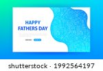 father day landing page. vector ... | Shutterstock .eps vector #1992564197