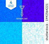 line fathers day patterns.... | Shutterstock .eps vector #1992564221