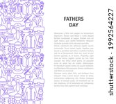 fathers day line pattern... | Shutterstock .eps vector #1992564227