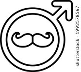 male singage with moustache...   Shutterstock .eps vector #1992578567