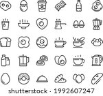 food line icon set   hot bowl ... | Shutterstock .eps vector #1992607247