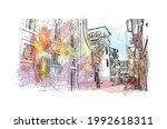 building view with landmark of... | Shutterstock .eps vector #1992618311