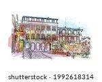 building view with landmark of... | Shutterstock .eps vector #1992618314