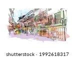 building view with landmark of... | Shutterstock .eps vector #1992618317