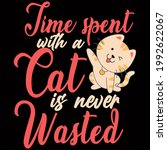 cat lover vector illustration... | Shutterstock .eps vector #1992622067