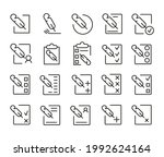 pack of register line icons....
