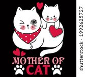 cat lover vector illustration... | Shutterstock .eps vector #1992625727