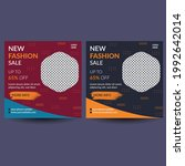 fashion sale social media post... | Shutterstock .eps vector #1992642014