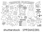 vector tropical placemat for...   Shutterstock .eps vector #1992642281