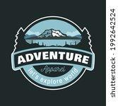 adventures outdoor mountain and ... | Shutterstock .eps vector #1992642524