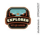 explorer outdoor mountain logo... | Shutterstock .eps vector #1992642527
