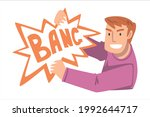 young man with bang explosion... | Shutterstock .eps vector #1992644717