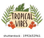doodle vector sticker with... | Shutterstock .eps vector #1992652961
