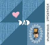 happy father's day. trendy... | Shutterstock .eps vector #1992654314