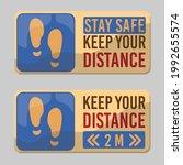 keep distance sign vector... | Shutterstock .eps vector #1992655574