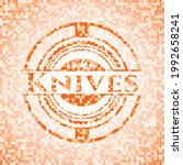 knives abstract orange mosaic... | Shutterstock .eps vector #1992658241