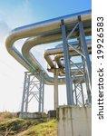 industrial pipelines on pipe... | Shutterstock . vector #19926583