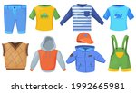 set of casual male clothes for... | Shutterstock .eps vector #1992665981