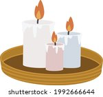 scented color candles on a... | Shutterstock .eps vector #1992666644