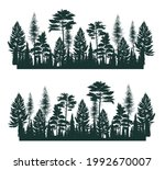 illustration with high pines in ... | Shutterstock .eps vector #1992670007