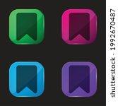 bookmark four color glass...