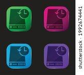 backup four color glass button...