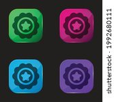 badge four color glass button... | Shutterstock .eps vector #1992680111