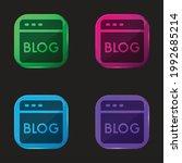 blog four color glass button...