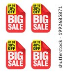 big sale red stickers set with... | Shutterstock .eps vector #1992685871