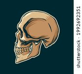 skull drawing side view in... | Shutterstock .eps vector #1992692351