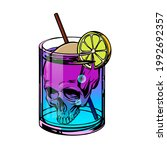 death cocktail with skull and... | Shutterstock .eps vector #1992692357