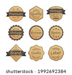 badge collection with vintage... | Shutterstock .eps vector #1992692384