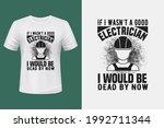 electrician t shirt design here | Shutterstock .eps vector #1992711344